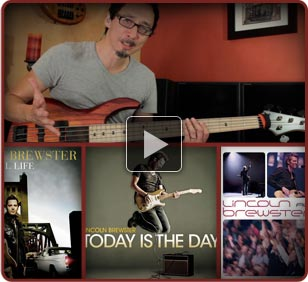 Lincoln Brewster Bass Instruction Videos by Norm Stockton Image